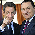 Egypt's Mubarak with French President Sarkozy Photo: AFP