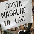 Protest in Ecuador: 'Stop Gaza massacre' Photo: AP