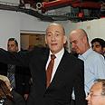 Olmert in Ashkelon Photo: Moshe Milner, GPO