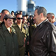 Barak in Ashdod Photo: Ariel Harmoni, Defense Ministry