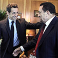 Sarkozy (L) and Mubarak in Sharm Photo: AP