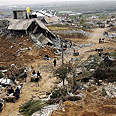 Destruction in Gaza following offensive Photo: AP