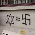 Anti-Semitic graffiti in Zurich Photo courtesy of the Jewish Agency