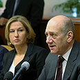 Olmert and Livni want to end tenure with major deal Photo: Alex Kolomoisky