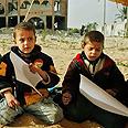 Palestinian children during Cast Lead Photo: AP