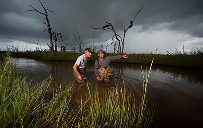 """""""אנשי הביצות"""". פטיש עמוק למגפיים גבוהים (באדיבות ערוץ ההיסטוריה)"""