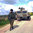 IDF forces patrolling on Lebanon border Photo: Avihu Shapira