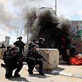 Security forces in Qalandiya Photo: Reuters