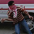 Rioter in Qalandiya Photo: Ohad Zwigenberg