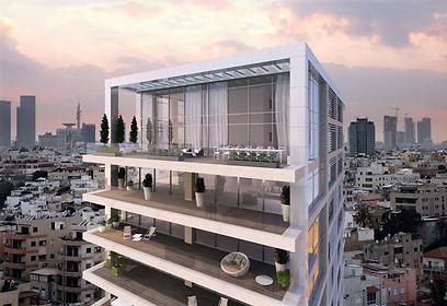 Future Hebert Samuel 10 on Tel Aviv promenade (Photo: Ofer Investments)