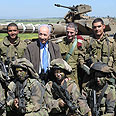 Visiting IDF troops in north Photo: Mark Neiman, GPO