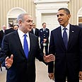 Synchronizing clocks? Netanyahu with Obama Photo: Pete Souza, White House