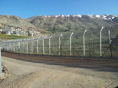 הגדר החדשה בגבול סוריה