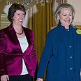 Ashton (L) and Clinton Photo: EPA