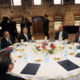Negotiating table in Istanbul Photo: AFP