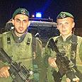 Lance-corporals Yunesi (L) and Gratopski Photo courtesy of the Border Guard