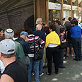 French-Israelis lining up to vote Photo: Gilad Morag