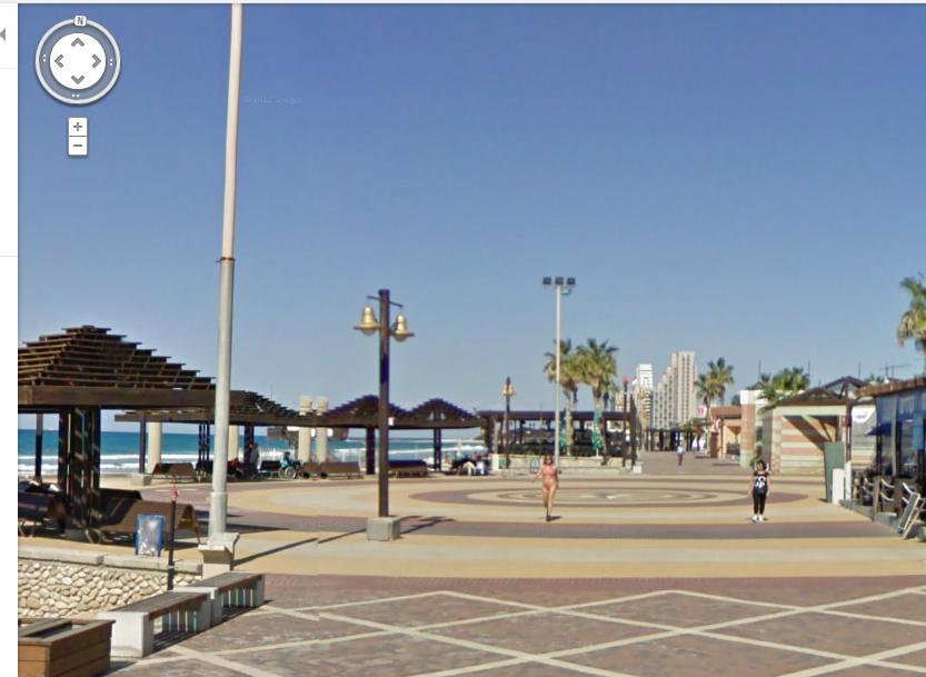 חוף דדו בחיפה. מצלמים רק במקומות ציבוריים (צילום: google maps)