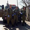 Paramedics who treated the baby Photo courtesy of IDF Spokesman's Unit