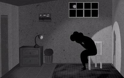 """האבל בשחור-לבן. מתוך הסרטון """"שערי שמיים"""" (אנימציה: דרור שפץ ונדב נחמני) (צילום: דרור שפץ ונדב נחמני)"""