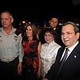 Gantz (L) Barak and their wives at event Photo: Moti Kimchi