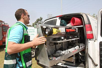 Unknown gas? IDF denies reports (Photo: Nimrod Glickman)