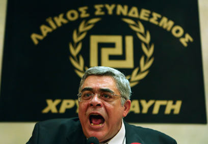 Nikolaos G. Michaloliakos, leader of Golden Dawn (Photo: Reuters)