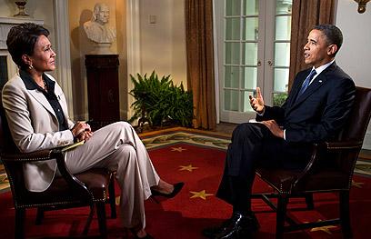 """אובמה מתראיין. """"נקודת תפנית היסטורית"""", אמר ראש העיר ניו יורק (צילום: AP)"""
