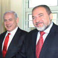 Netanyahu and Lieberman Photo: EPA