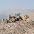 Construction of the border fence in the Eilat mountains Defense Ministry (Ariel Hermoni)