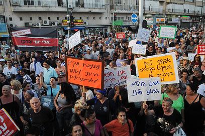 מארגני ההפגנה קראו למשתתפים לא לקחת את החוק לידיים (צילום: ירון  ברנר)