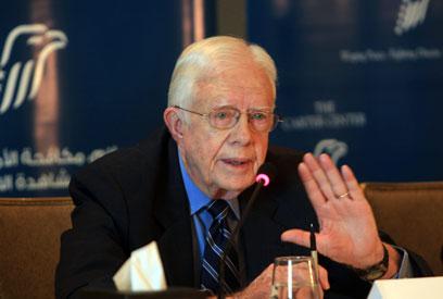 Jimmy Carter in Cairo for 2012 Egyptian elections (Photo: AFP)