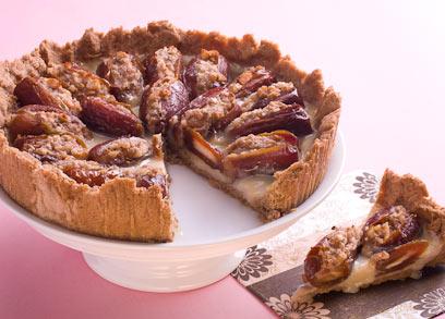 עוגת תפוחים ותמרים (צילום: ראובן אילת)