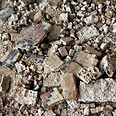 Bits of broken mosaic from the Hamat Tverya synagogue Moti Dolev