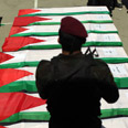 Coffins in Ramallah Photo: EPA