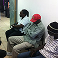 Illegal migrants arrested in Eilat Photo courtesy of Immigration Authority