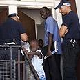 Police arrest illegal migrants in Eilat Photo: AFP