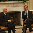 Peres and Obama at White House Photo: GPO