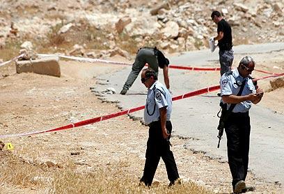 עימות עם שודדים בדרום הר חברון. זירת התקרית, היום (צילום: אליעד לוי)