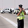 Roadblock set up near the scene Photo: Eliad Levy