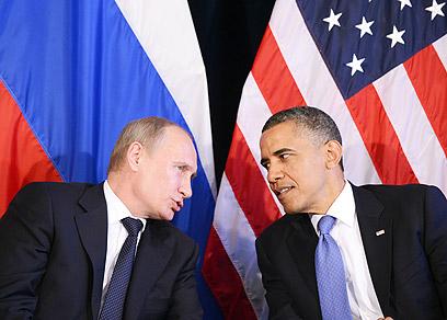 אובמה ופוטין בוועידת G20 החודש         (צילום: AFP)