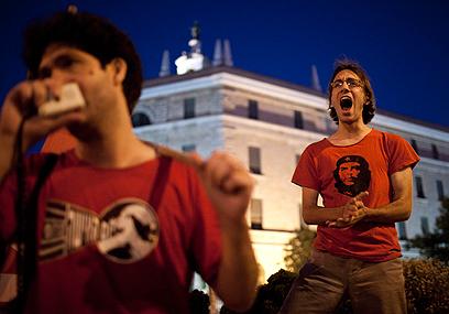 """דרישה לצדק חברתי, הערב בירושלים. """"מנסים להשתיק אותנו"""" (צילום: EPA)"""