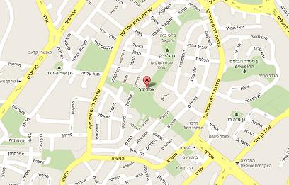 מפת שכונת אפרידר באשקלון (צילום: google maps)