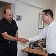 Ya'alon with Plesner Photo: Moshe Milner, GPO