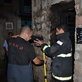 Scene of fire in Jerusalem Photo: Jerusalem Fire and Rescue Services