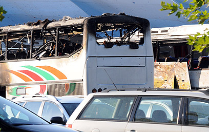 Bus after blast (Photo: AFP)