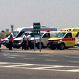 Ambulances waiting at Ben Gurion Airport