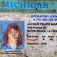 Suspect's fake driver's license