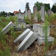 Desecrated Jewish cemetery (archives) Photo: AFP