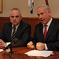 Finance Minister Steinitz (L) with Prime Minister Netanyahu Photo: Moshe Milner, GPO